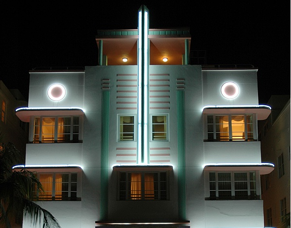 Ein Haus im Art Deco District in Miami