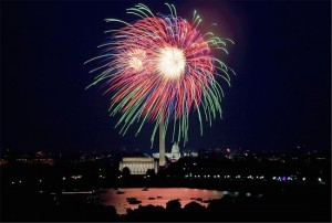Die National Mall am Independance Day