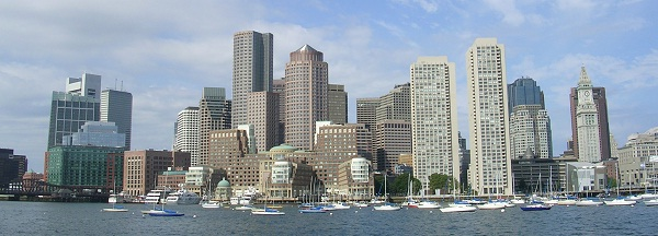 Boston Downtown Ansicht vom Meer